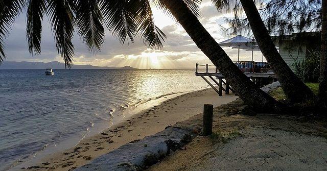 L'île fidji comme destination de balade romantique